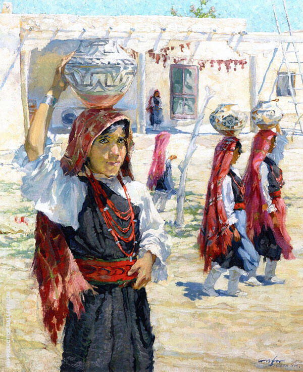 Isieta New Mexico Painting By Walter Ufer - Reproduction Gallery