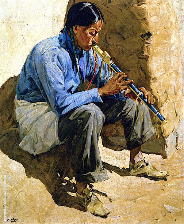 Lonesome Song 1936 Painting By Walter Ufer - Reproduction Gallery