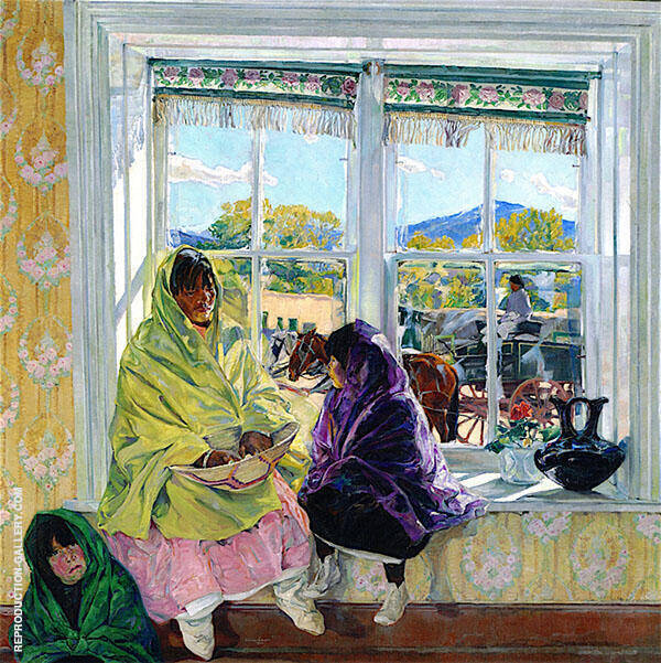 Luzanna and Her Sisters 1920 Painting By Walter Ufer