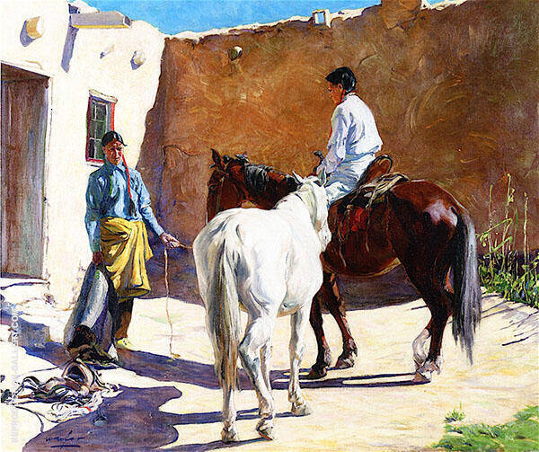 Making Ready 1917 Painting By Walter Ufer - Reproduction Gallery