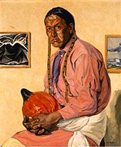 Man with a Pumpkin By Walter Ufer