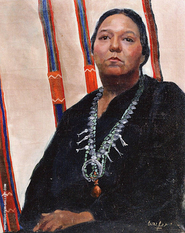 Navajo Woman Painting By Walter Ufer - Reproduction Gallery
