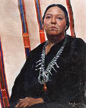 Navajo Woman By Walter Ufer