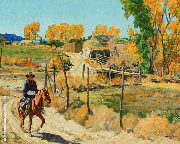 October Morning Painting By Walter Ufer - Reproduction Gallery
