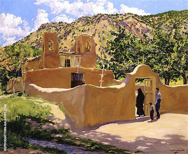 Oferta Para San Esquipula 1916 Painting By Walter Ufer