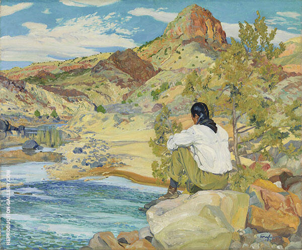 The Rio Grande Painting By Walter Ufer - Reproduction Gallery