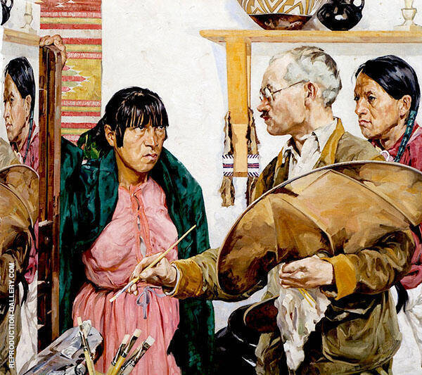 Paint and Indians 1923 Painting By Walter Ufer - Reproduction Gallery