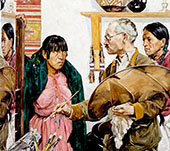 Paint and Indians 1923 By Walter Ufer