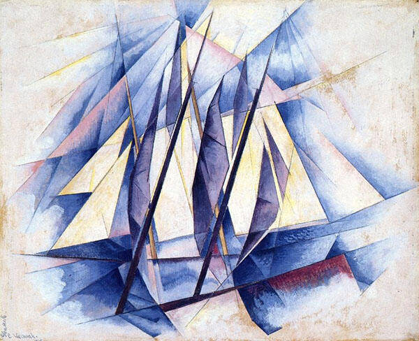 Sails In Two Movements 1919 Painting By Charles Demuth