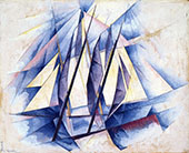 Sails In Two Movements 1919 By Charles Demuth