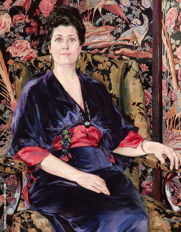 Portrait of Mrs Walter Wardrop Painting By Walter Ufer