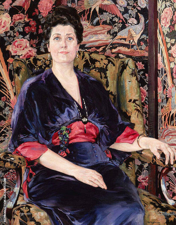 Portrait of Mrs Walter Wardrop By Walter Ufer