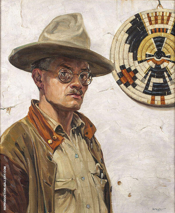 Self Portrait 1920 Painting By Walter Ufer - Reproduction Gallery