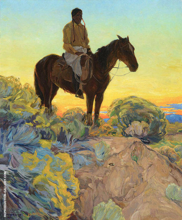 Sundown Painting By Walter Ufer - Reproduction Gallery