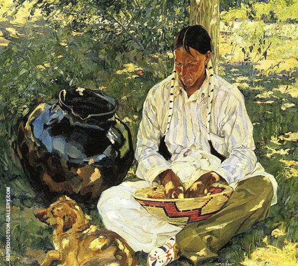 Sunspots 1919 Painting By Walter Ufer - Reproduction Gallery