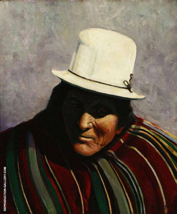 Taos Medicine Man Painting By Walter Ufer - Reproduction Gallery