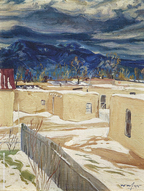 Taos Mood Painting By Walter Ufer - Reproduction Gallery