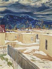 Taos Mood By Walter Ufer