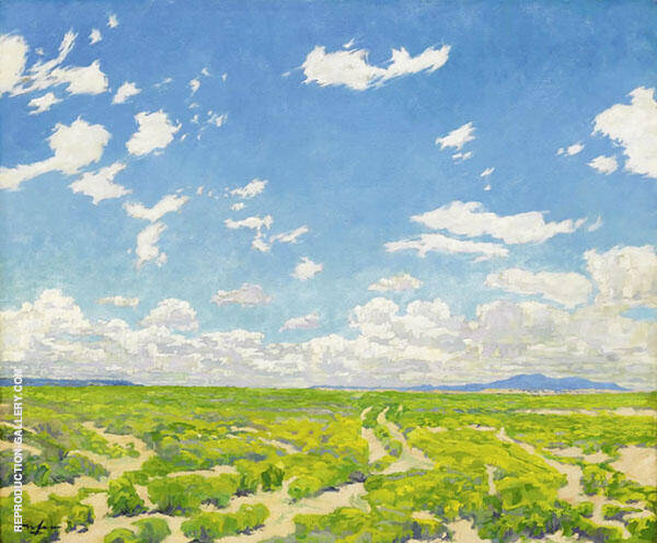 The American Desert Painting By Walter Ufer - Reproduction Gallery