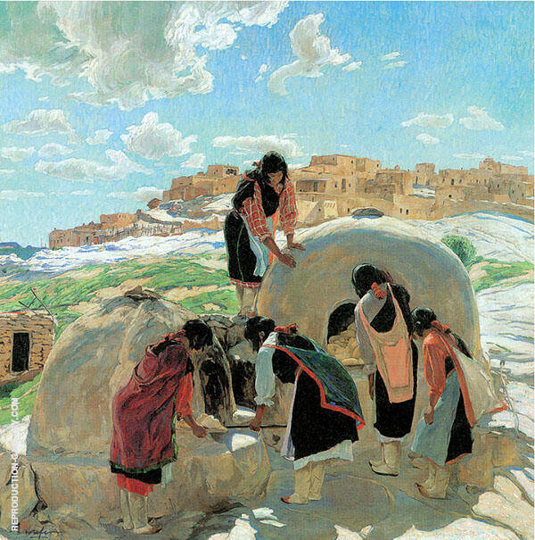 The Bakers 1917 Painting By Walter Ufer - Reproduction Gallery