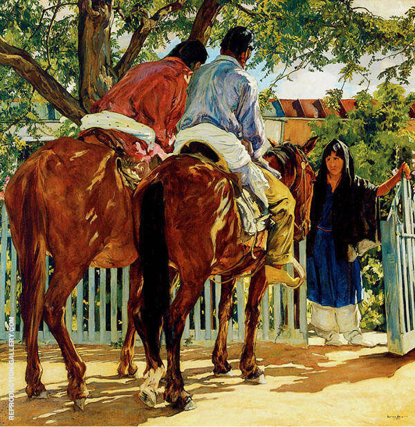 The Callers By Walter Ufer