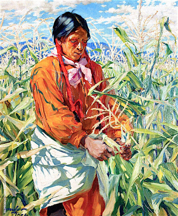 The Cornpicker 1915 Painting By Walter Ufer - Reproduction Gallery