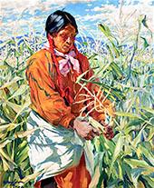 The Cornpicker 1915 By Walter Ufer