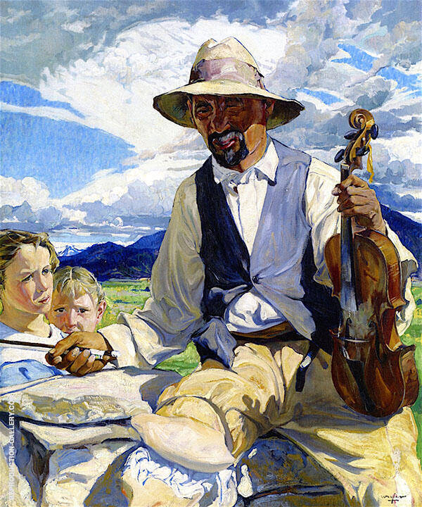 The Fiddler of Taos 1921 Painting By Walter Ufer - Reproduction Gallery