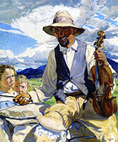 The Fiddler of Taos 1921 By Walter Ufer