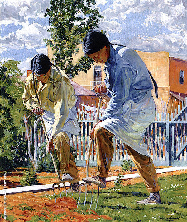 The Garden Makers 1923 Painting By Walter Ufer - Reproduction Gallery