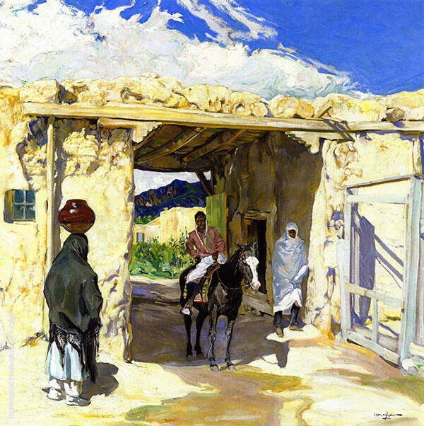 The Gateway 1918 Painting By Walter Ufer - Reproduction Gallery