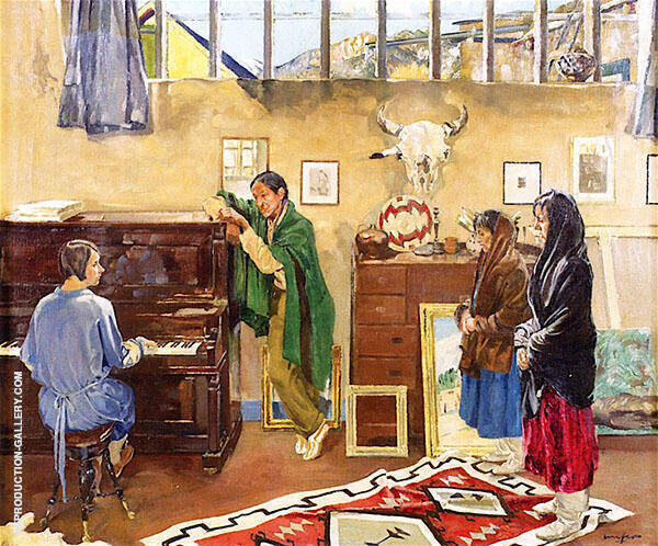 The Listeners 1926 Painting By Walter Ufer - Reproduction Gallery