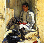 The Red Moccasins 1917 By Walter Ufer