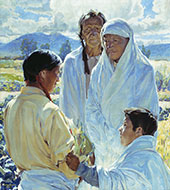 The Solemn Pledge Taos Indians 1916 By Walter Ufer