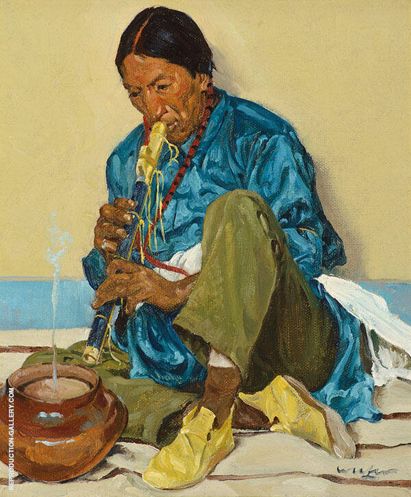 The Song of The Olla Painting By Walter Ufer - Reproduction Gallery