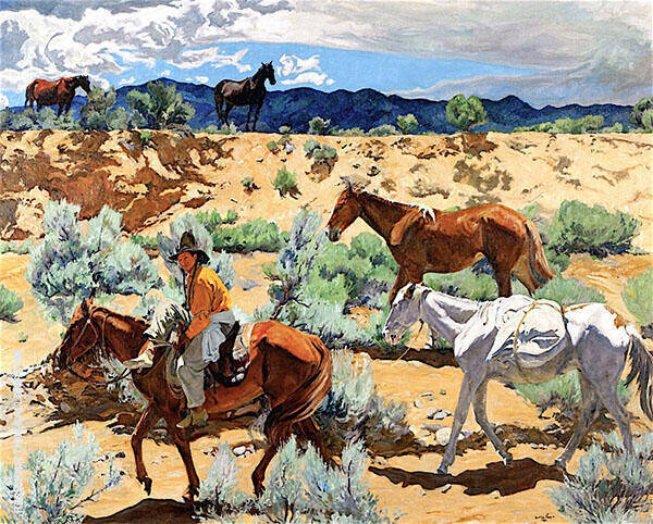 The Southwest 1930 Painting By Walter Ufer - Reproduction Gallery