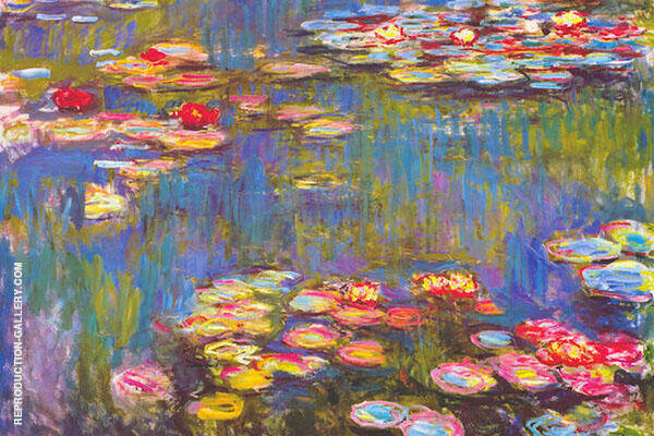 Water Lilies 1916 3 by Claude Monet | Oil Painting Reproduction Replica On Canvas - Reproduction Gallery