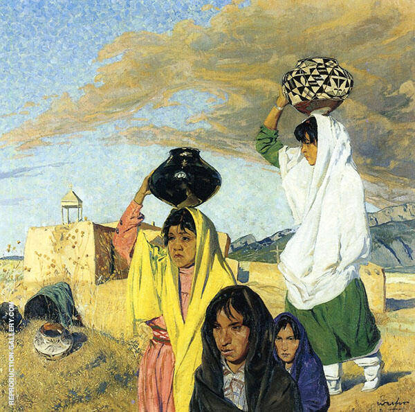 The Water Woman By Walter Ufer