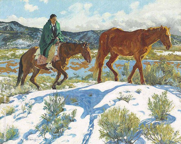 Trailing Homeward Painting By Walter Ufer - Reproduction Gallery