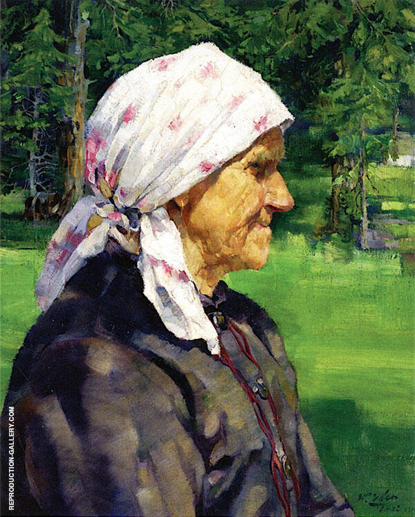 Tyrollean Woman Plein Air 1912 By Walter Ufer