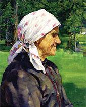 Tyrollean Woman Plein Air 1912 By Walter Ufer