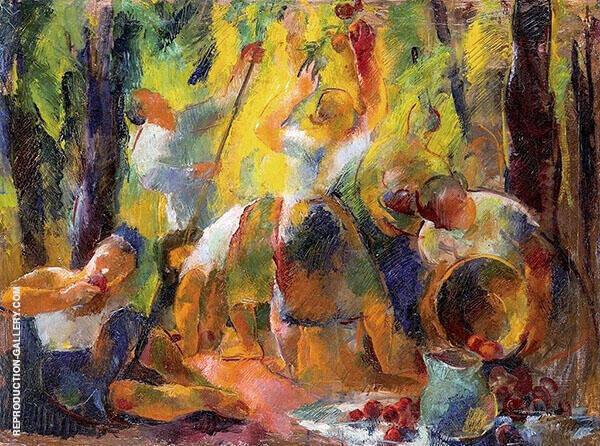 Apple Harvest Painting By Vilmos aba-Novak - Reproduction Gallery