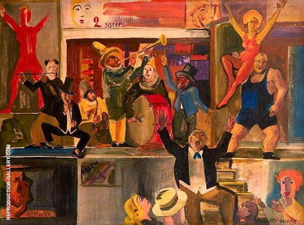 Cabaret Scene Painting By Vilmos aba-Novak - Reproduction Gallery