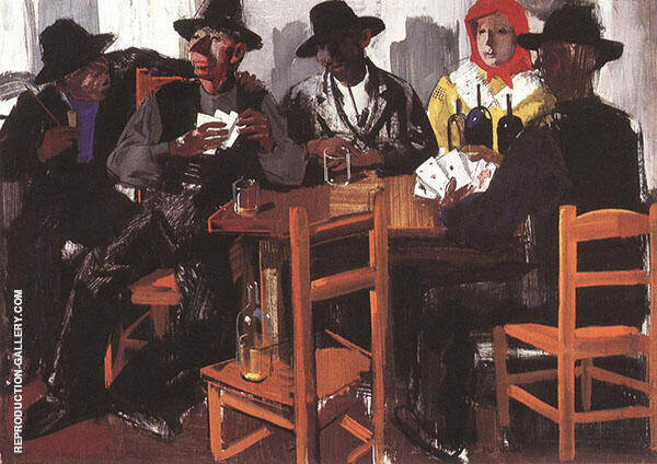Card Players 1932 By Vilmos aba-Novak