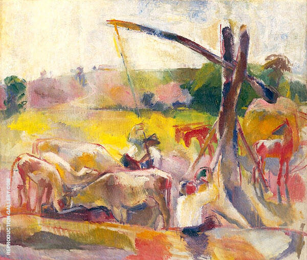Cows Feeding By Vilmos aba-Novak