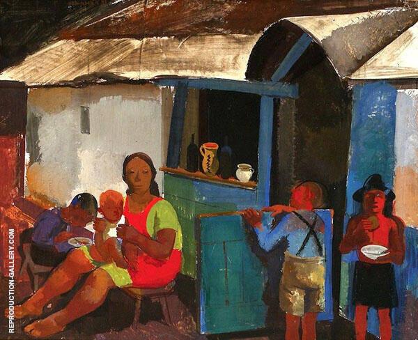 Figures in The Village By Vilmos aba-Novak