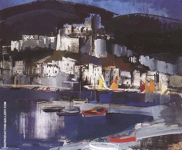 Italian Coastal Village c 1930 By Vilmos aba-Novak