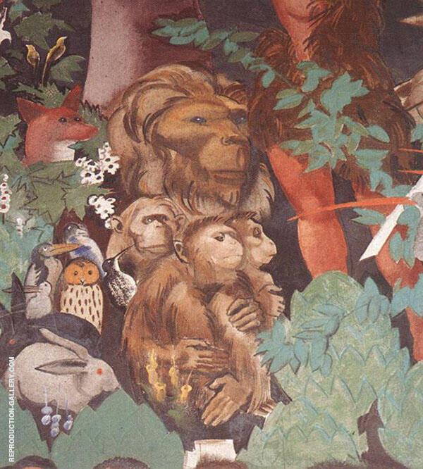 Last Judgment detail 4 1933 By Vilmos aba-Novak