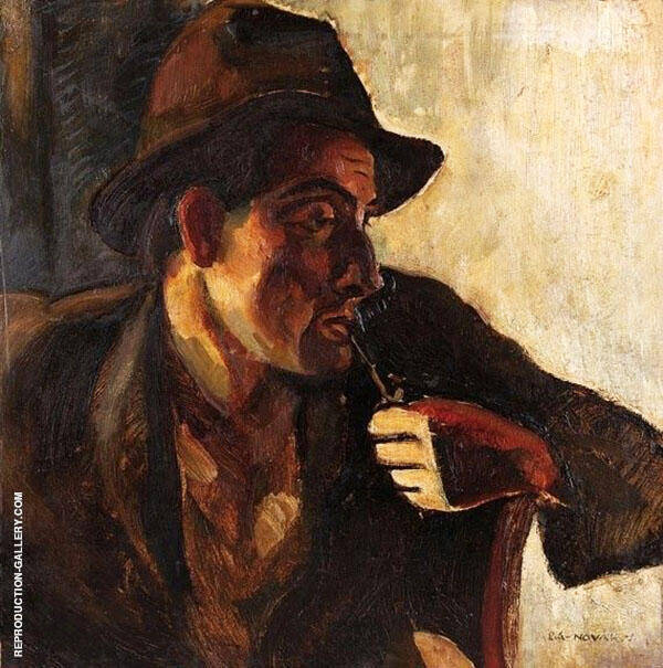 Man with Pipe By Vilmos aba-Novak