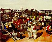 Market at Csikszereda 1935 By Vilmos aba-Novak